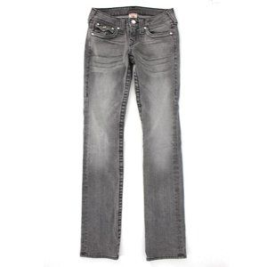 True Religion Disco Billy Grey Straight Jeans 26